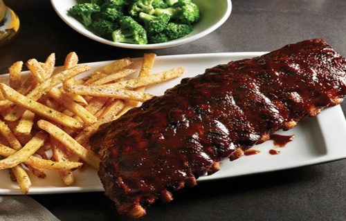 Baby back ribs at Applebee's in Fisherman's Wharf.