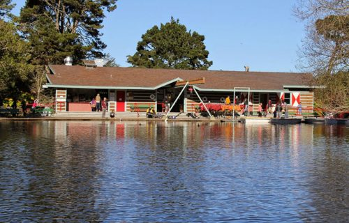Stow Lake Boathouse Exterior