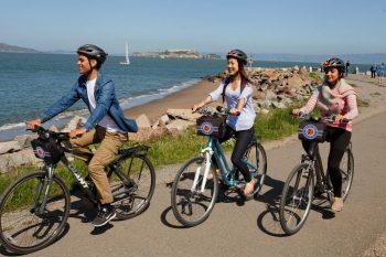 Biking views of Alcatraz - San Francisco