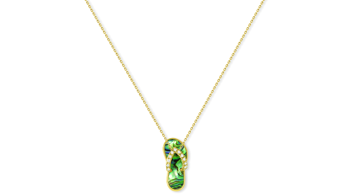 Na hoku two days in san francisco na hoku abalone diamond hawaiian slipper pendant aloadofball Image collections