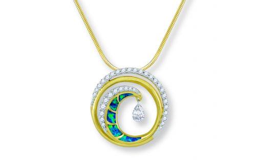 Na Hoku, Opal & Diamond Ultimate Wave Pendant