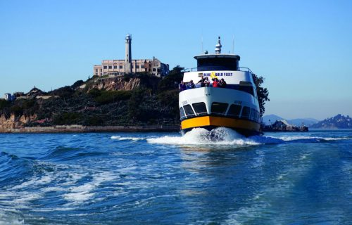 Blue & Gold Fleet at Alcatraz