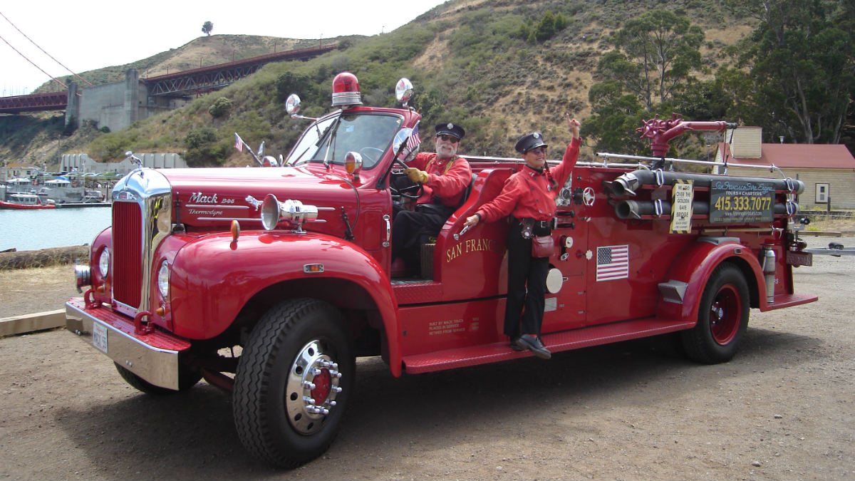 Red Fire Truck Tour San Francisco