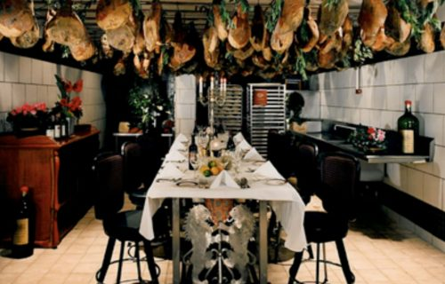 Inside North Beach Restaurant's Prosciutto Room