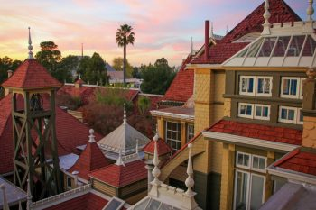 View from the 4th Floor Balcony at the Winchester Mystery House