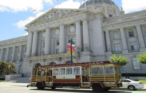 Hornblower Classic Cable Cars at San Francisco City Hall