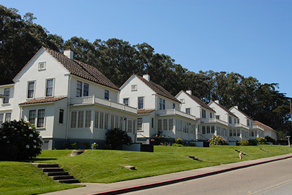 The Presidio residential housing.