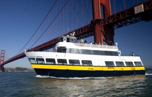 Blue & Gold Fleet at the Golden Gate Bridge