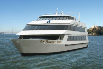 San Francisco Spirit Yacht on the bay near Alcatraz.
